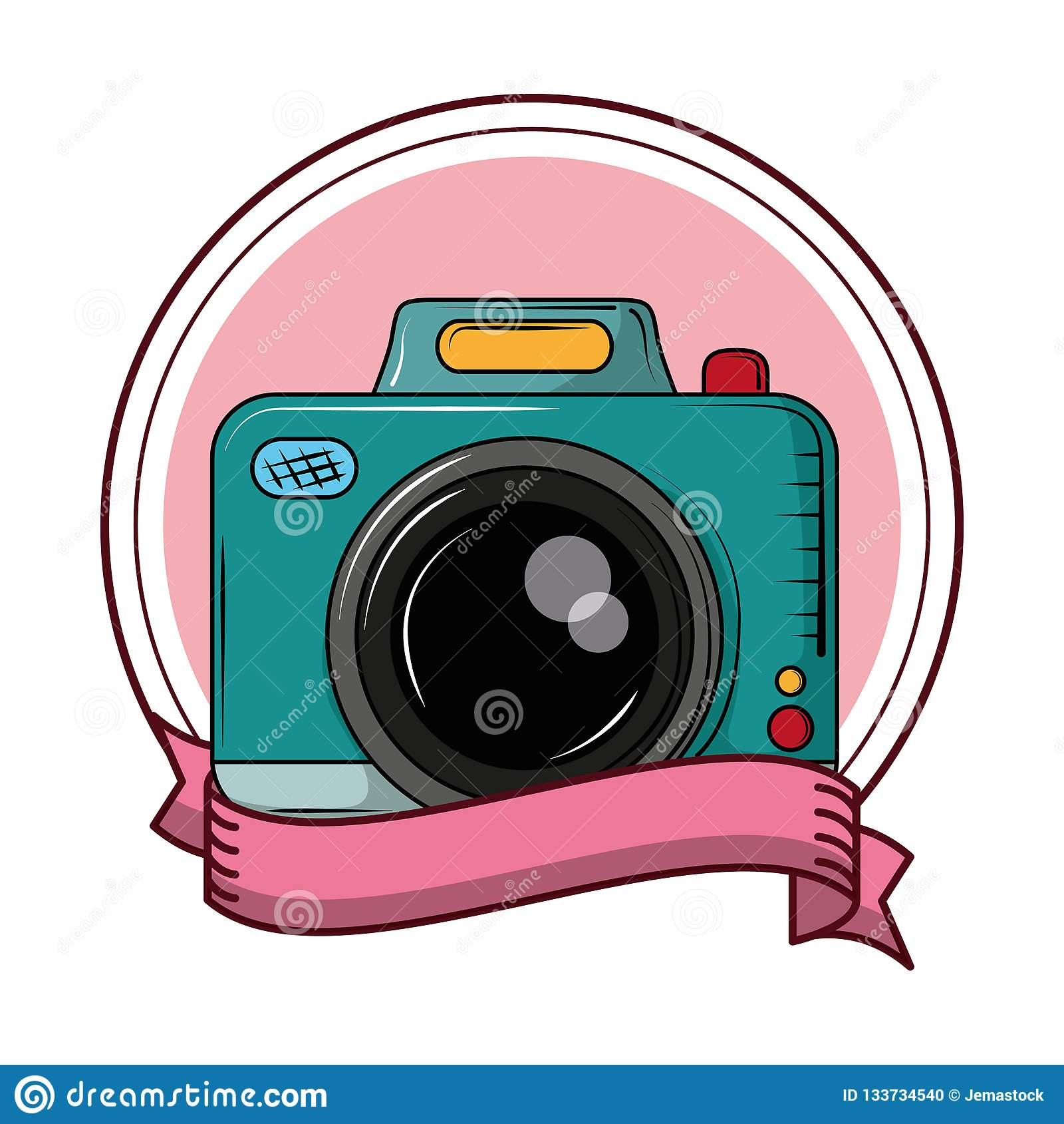 Camera Fotografica Do Vintage Ilustracao Do Vetor Ilustracao De