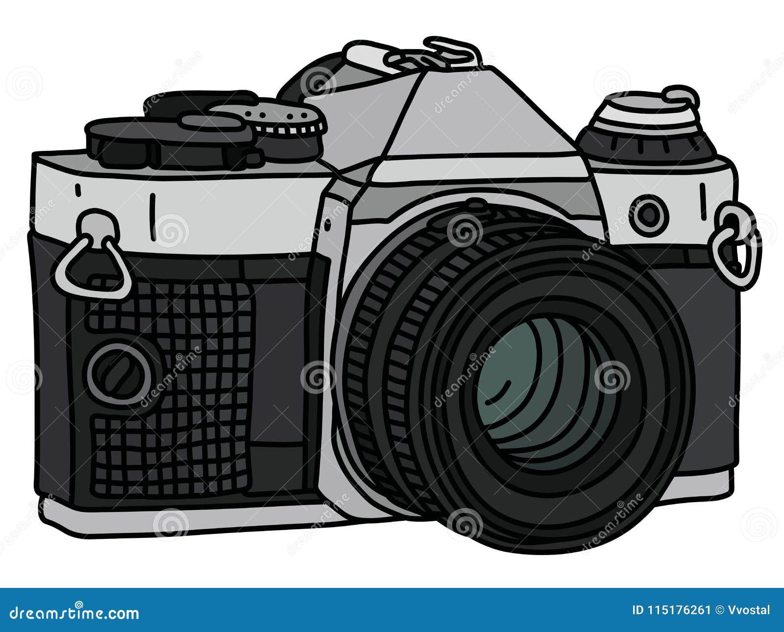 A Camera Fotografica Retro Ilustracao Do Vetor Ilustracao De Tiro