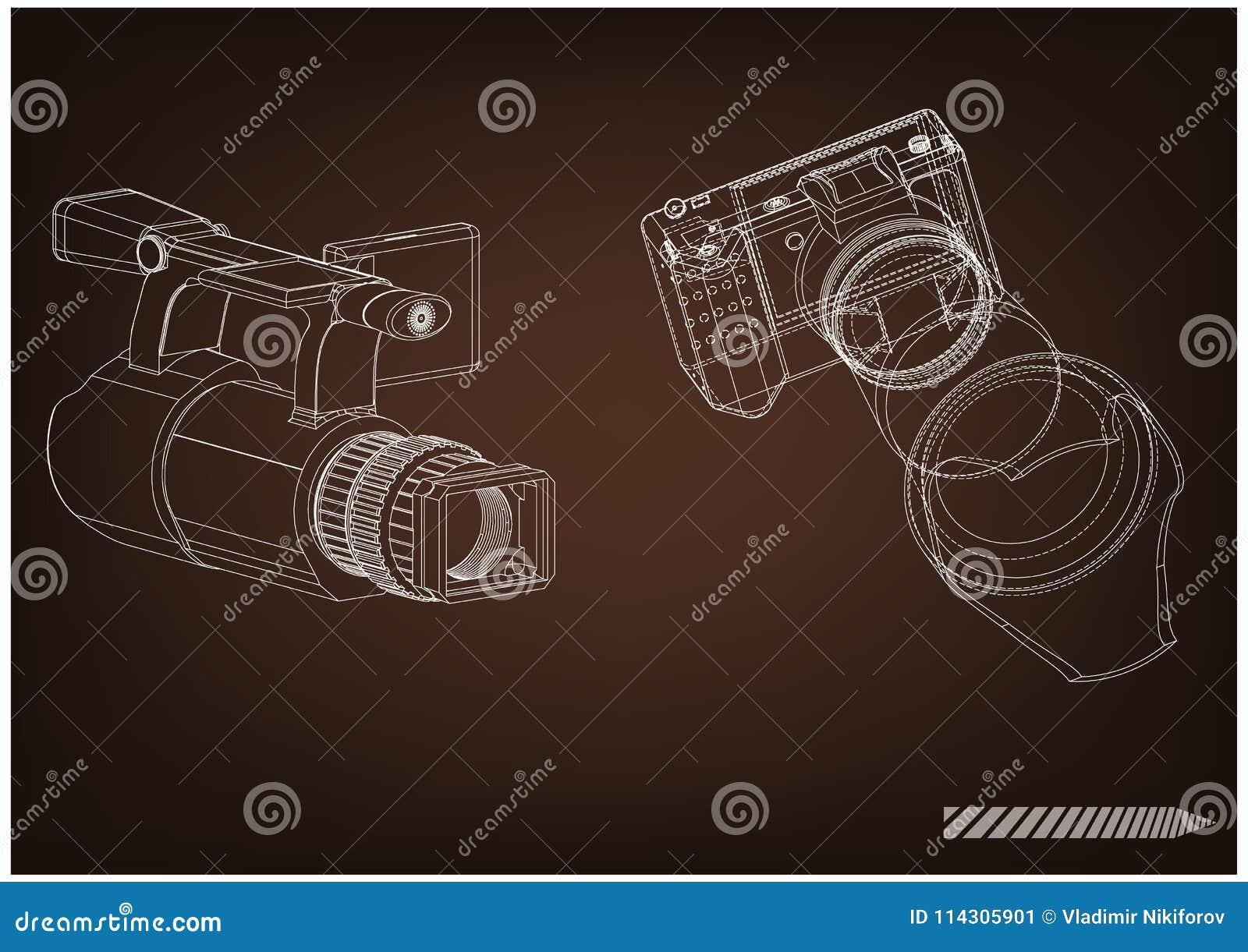 Câmera no marrom