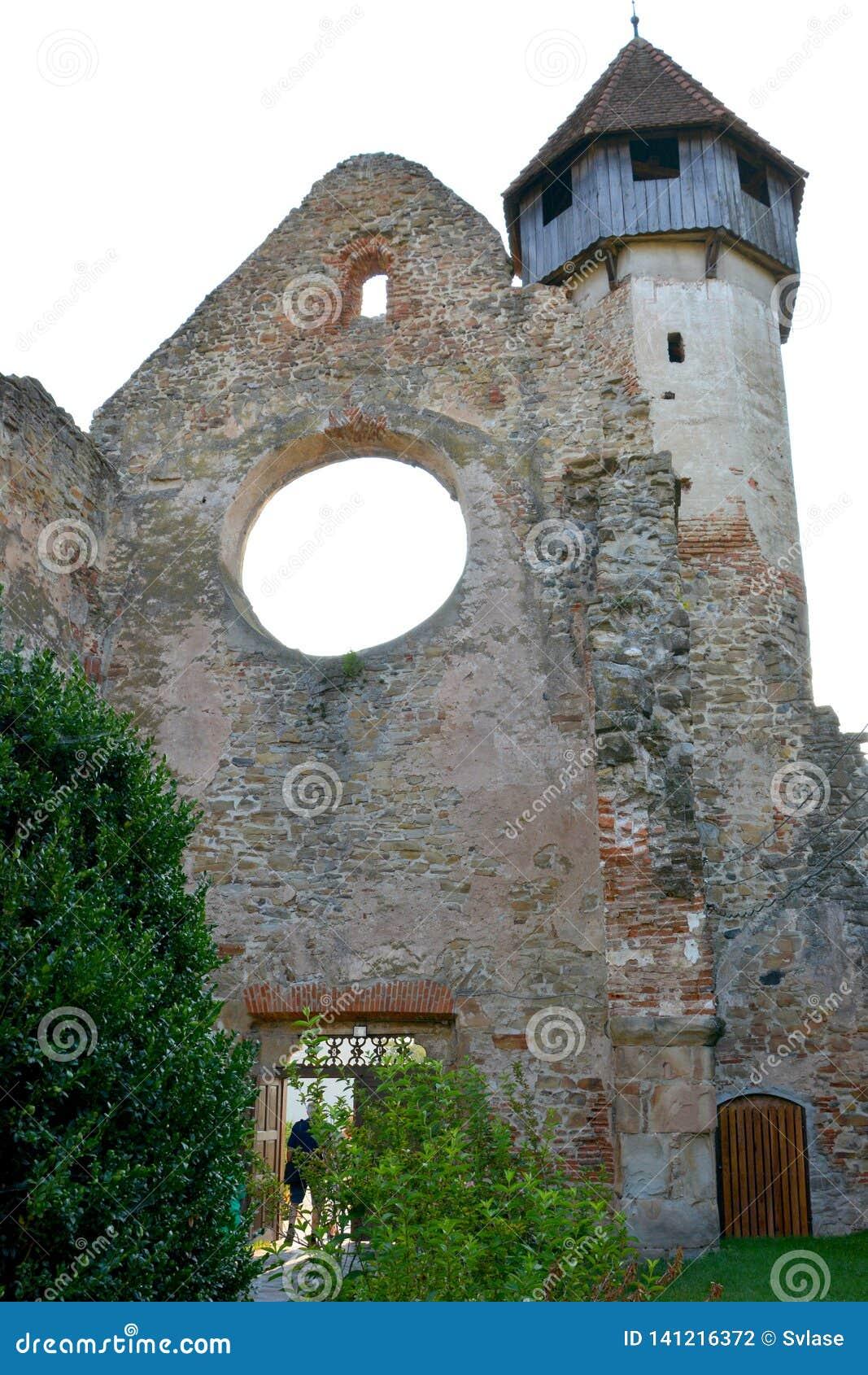 Walls. Ruins of medieval cistercian abbey in Transylvania.
