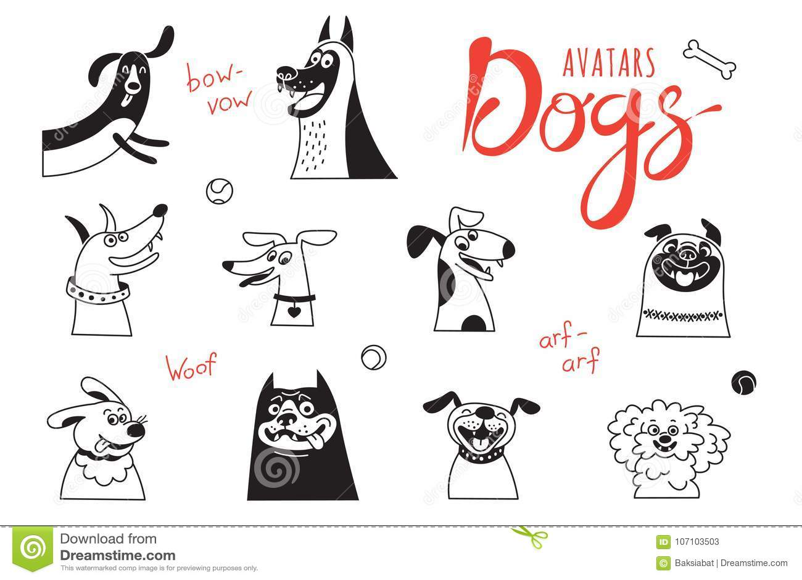 Cães do Avatar O regaço-cão engraçado, o pug feliz, os híbridos alegres e outro produzem