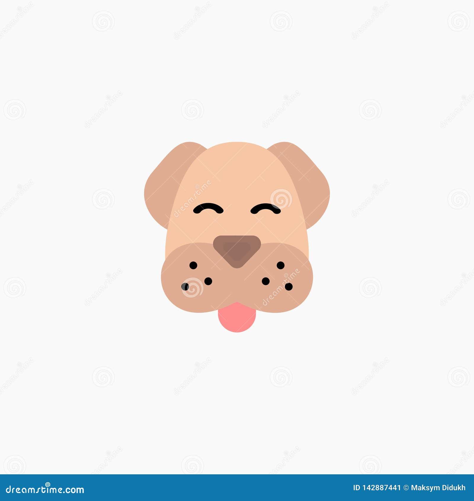 Cão Ícone e logotipo do cão animal Fundo branco Eps 10