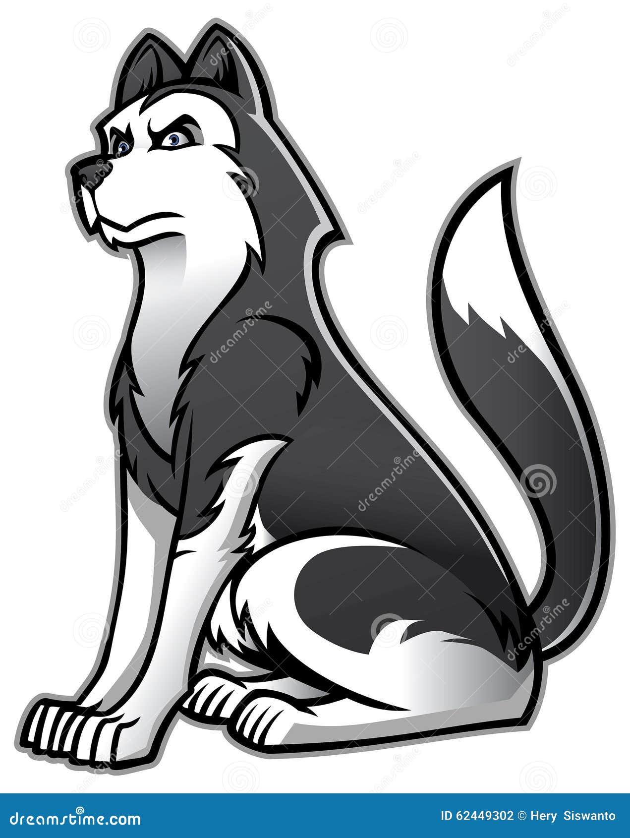 Cão do cão de puxar trenós Siberian