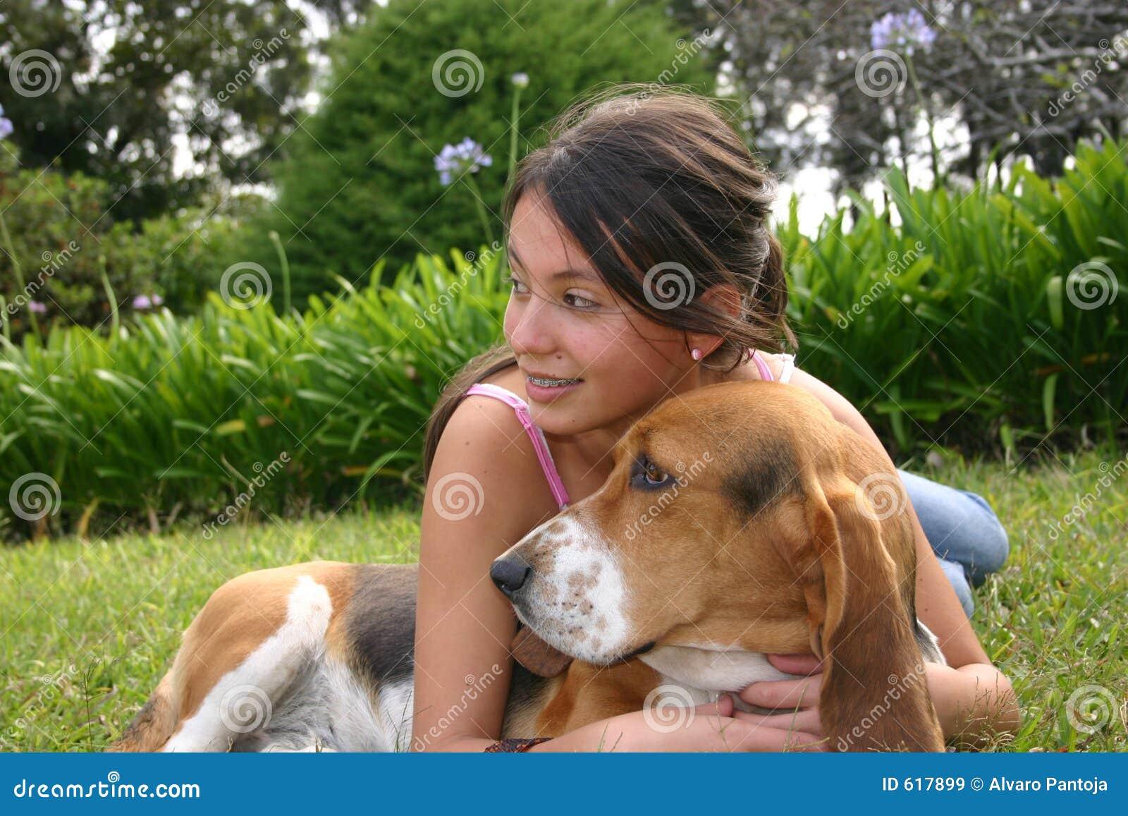 Cão e sorriso