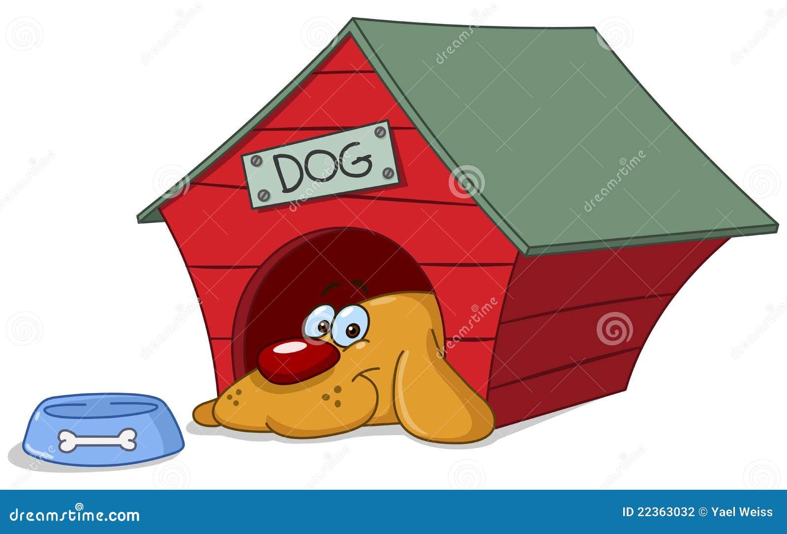 Cão no doghouse