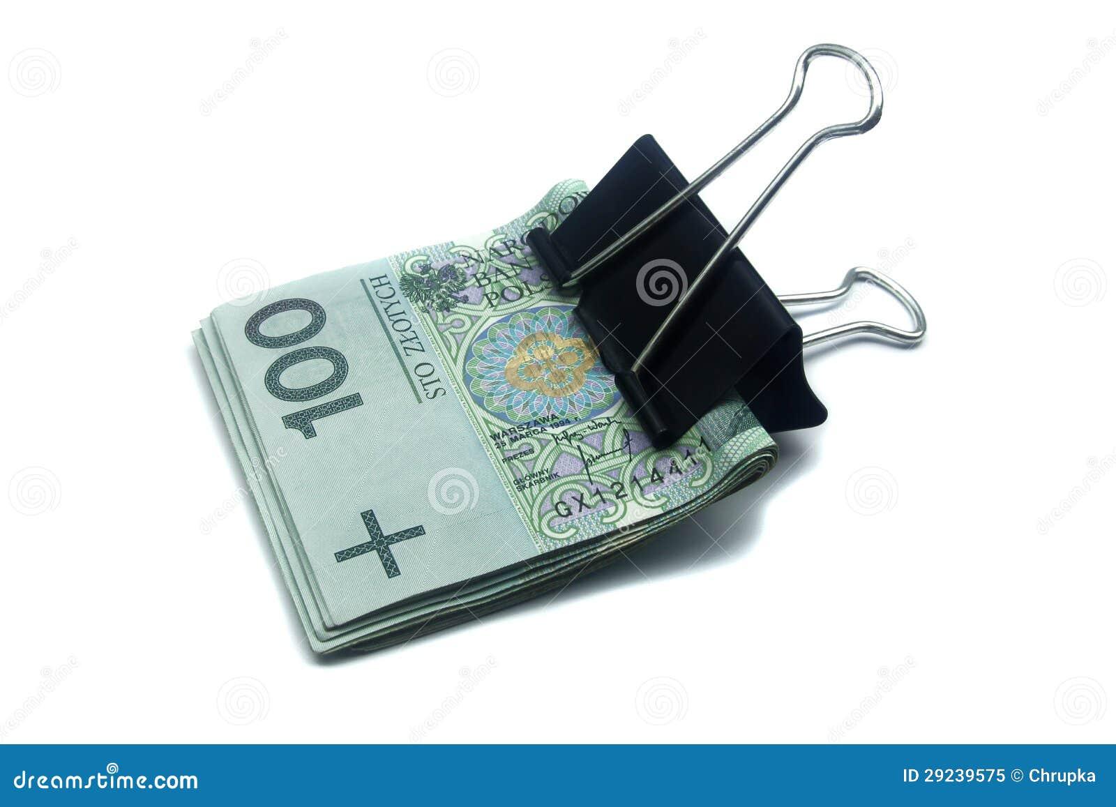 Download Cédulas Polonesas Com O Grampo No Branco Imagem de Stock - Imagem de economias, rico: 29239575