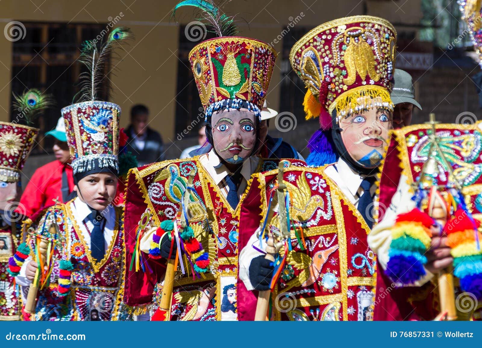 Célébration dans Ollantaytambo Pérou