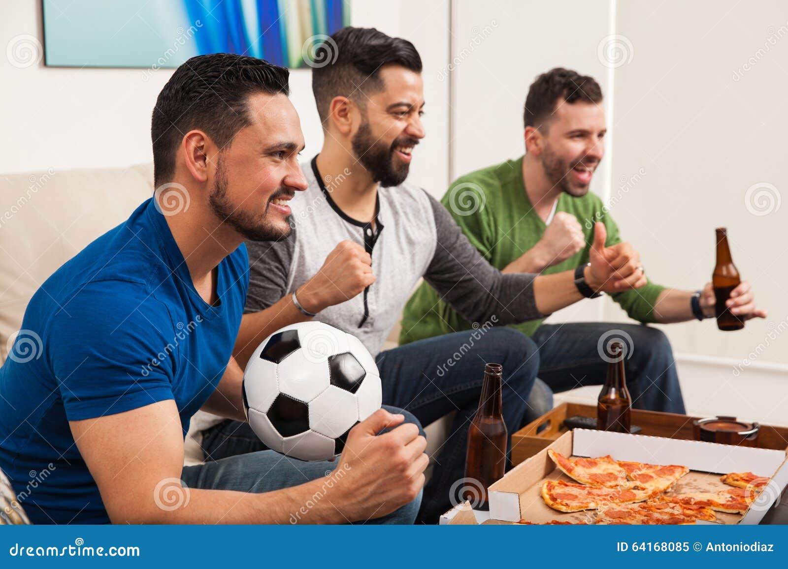 Célébration de notre victoire d équipe de football
