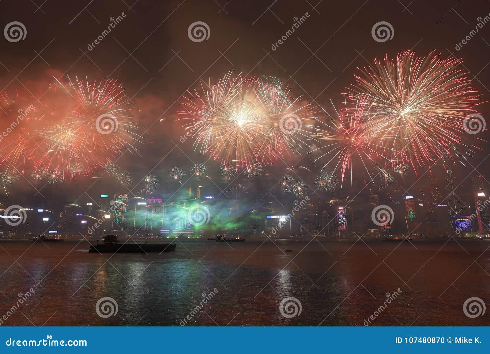 Célébration de nouvelle année en Hong Kong 2018
