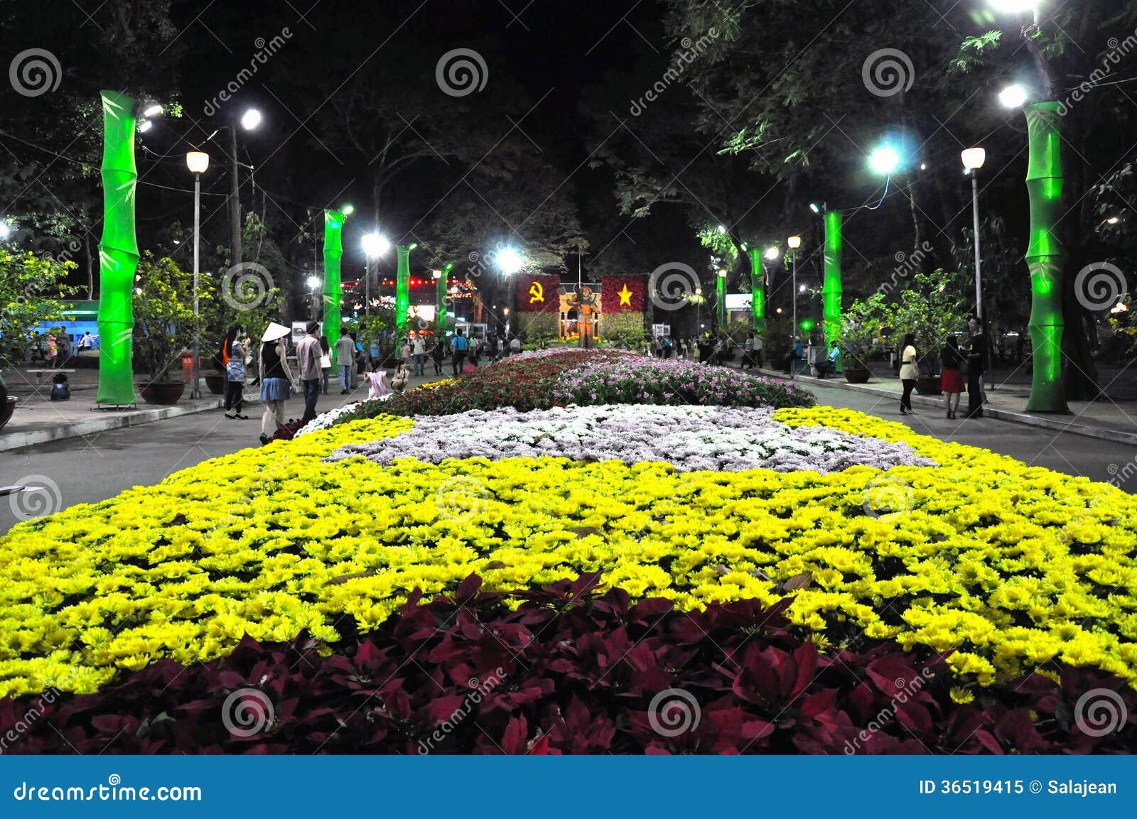 Célébration lunaire de nouvelle année de Tet en Ho Chi Minh