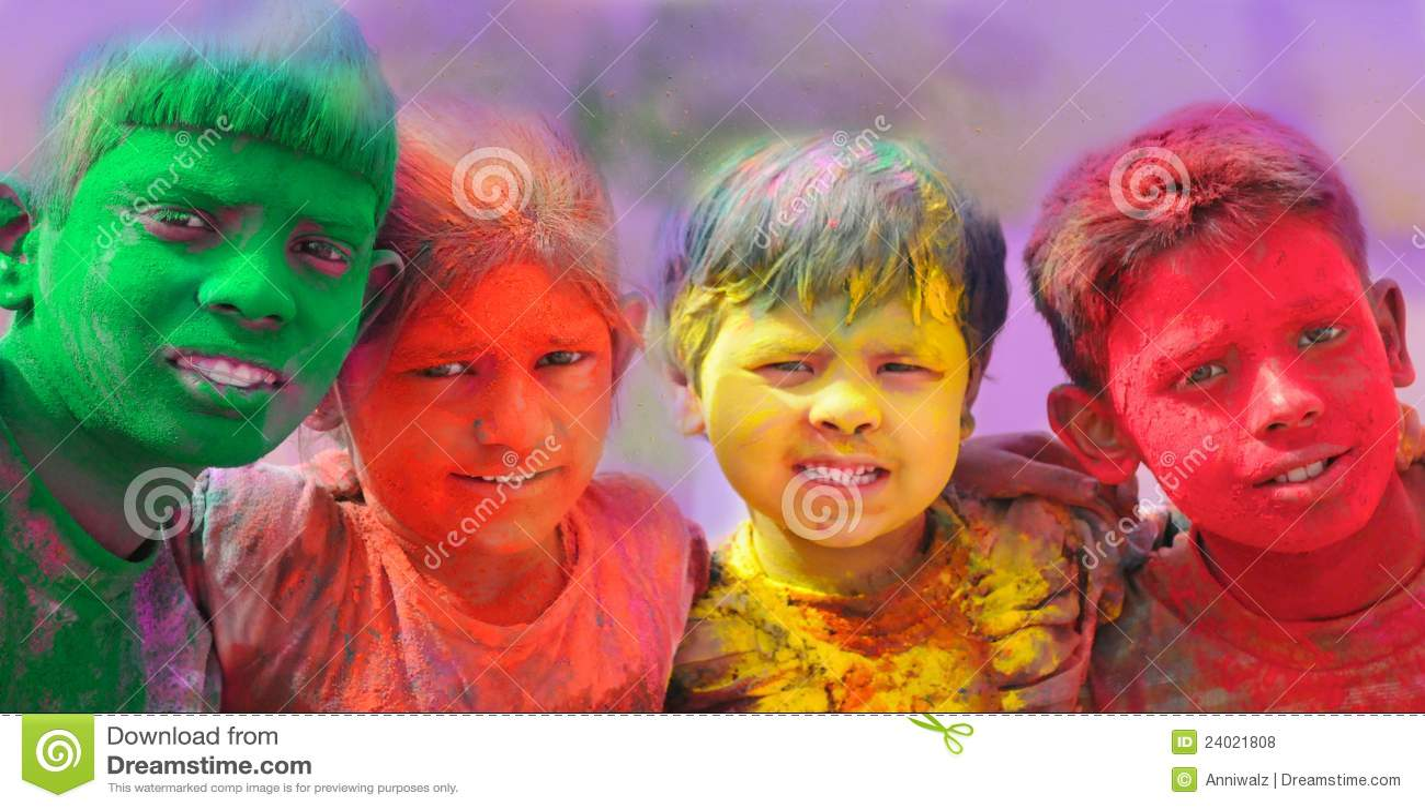 Célébrations de Holi en Inde.