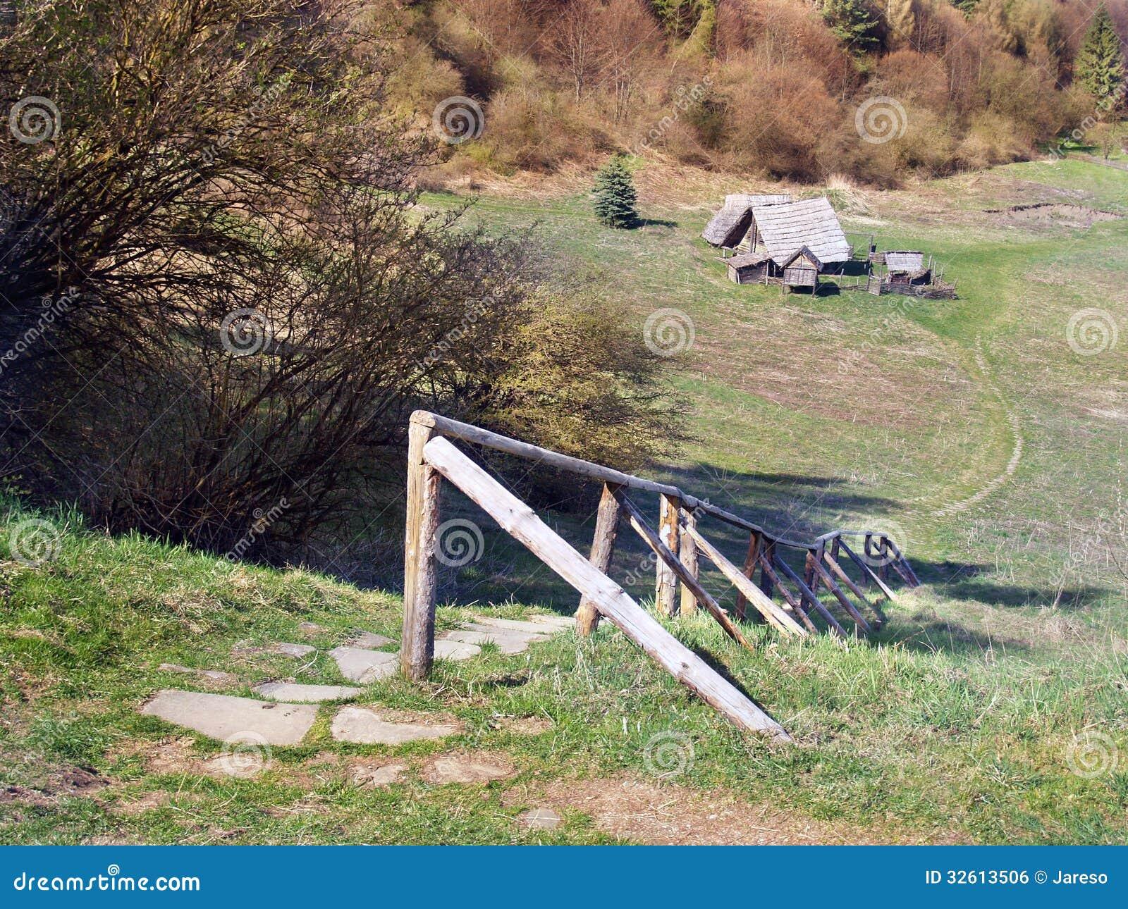Céltico Archeoskanzen em Havranok, Eslováquia
