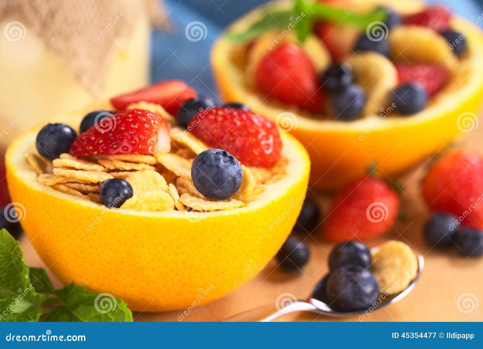 Céréale avec des fruits