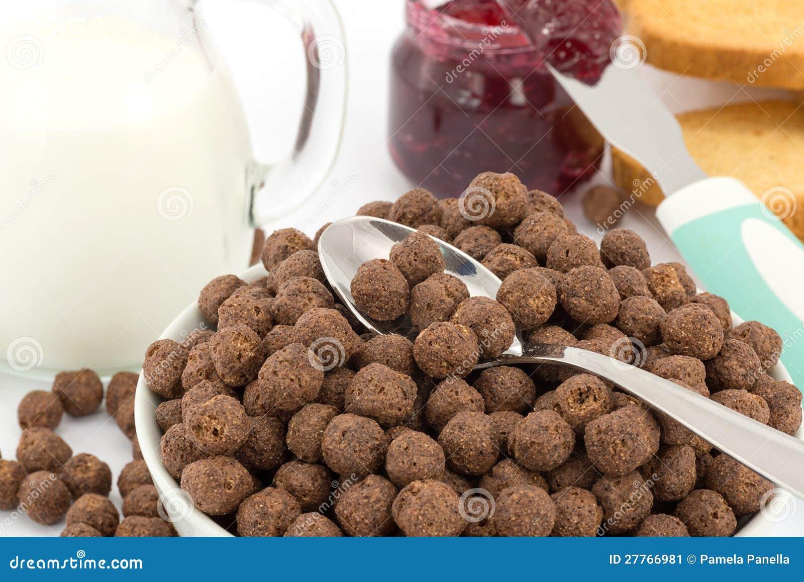 Céréale de lait et de chocolat