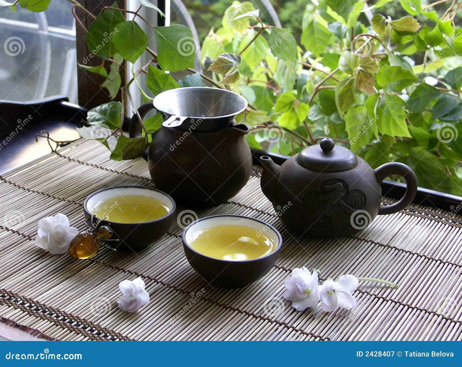 Cérémonie de Chinois de thé