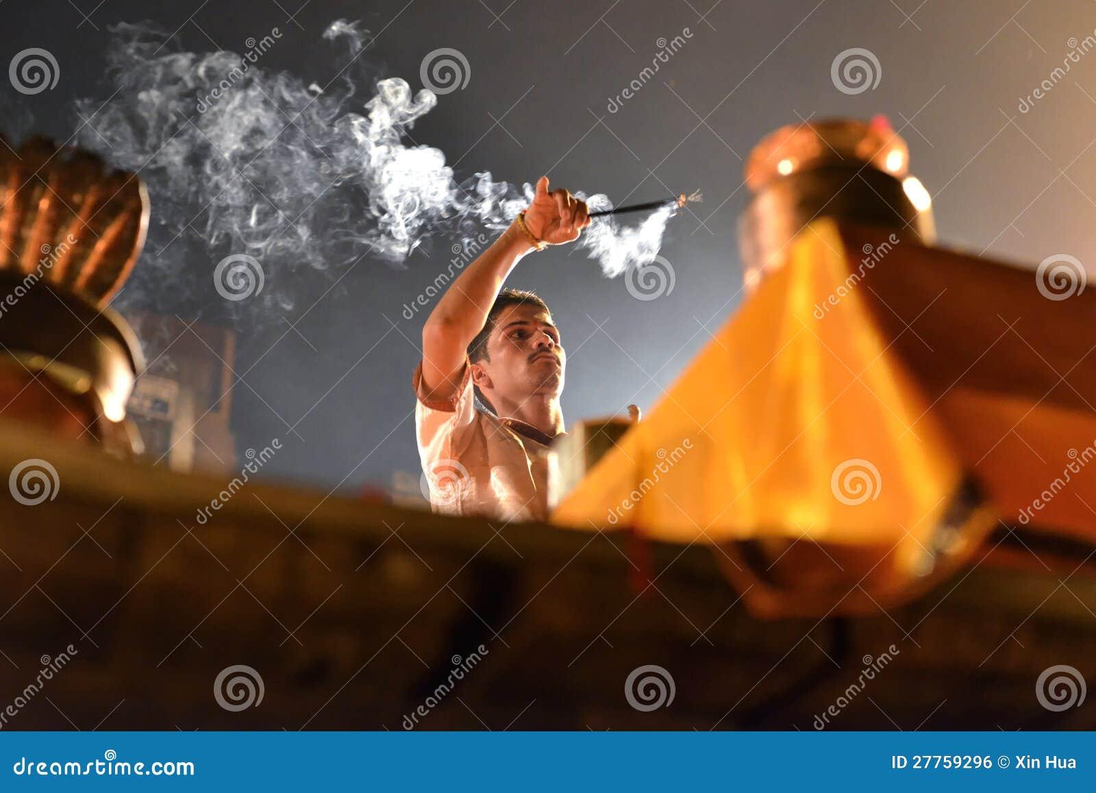 Cérémonie de Ganga Aarti à Varanasi