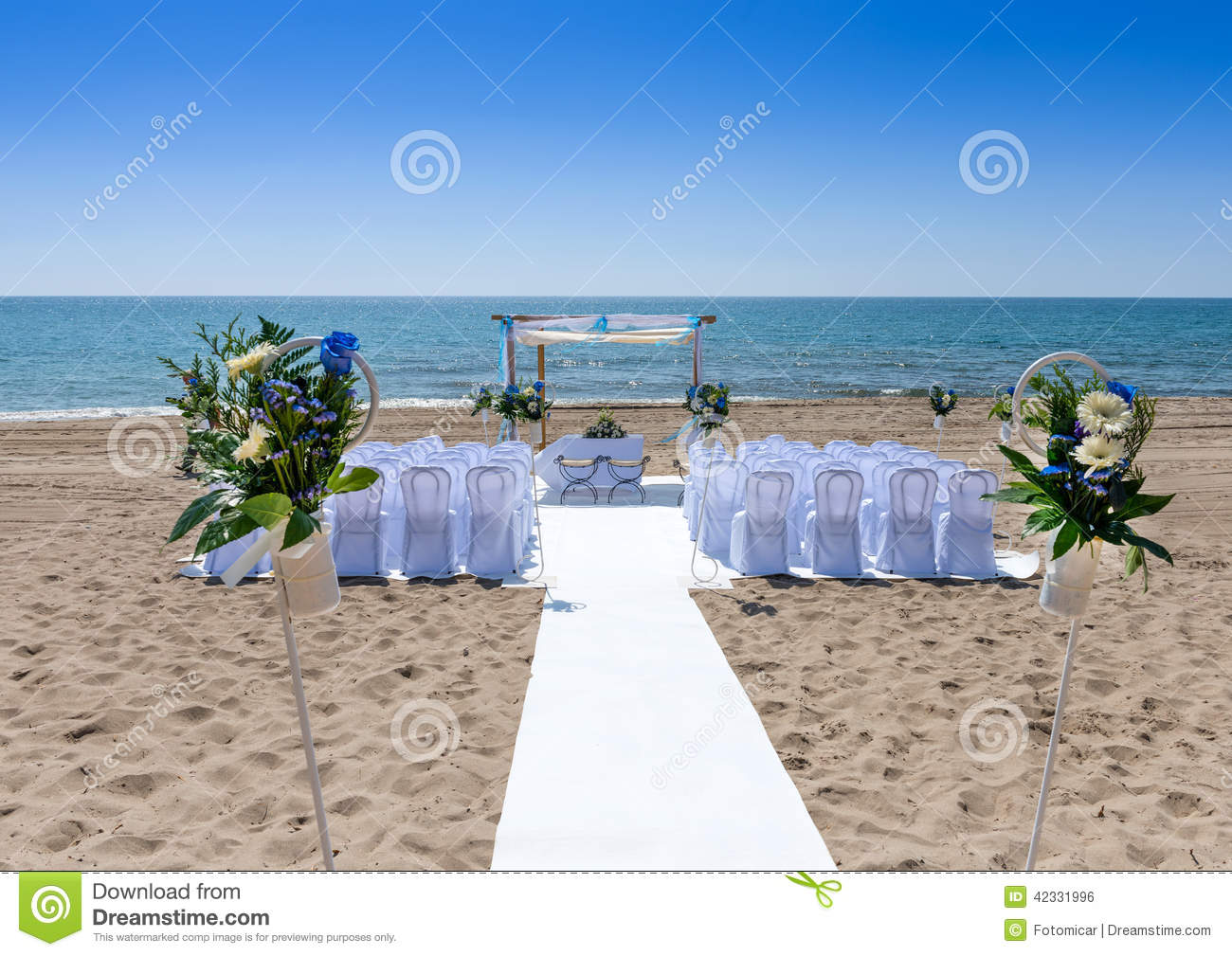 c r monie de mariage sur la plage. Black Bedroom Furniture Sets. Home Design Ideas