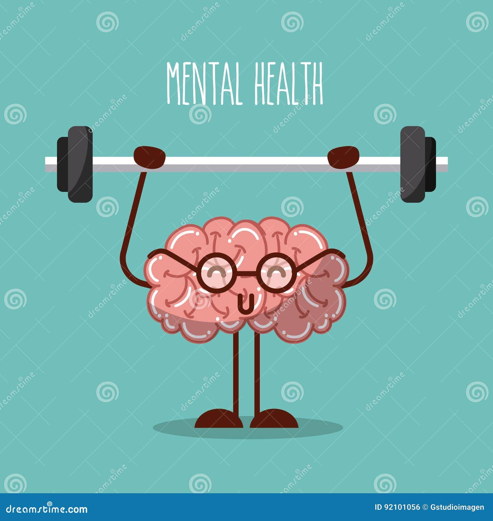 Cérebro da saúde mental que levanta peso a imagem