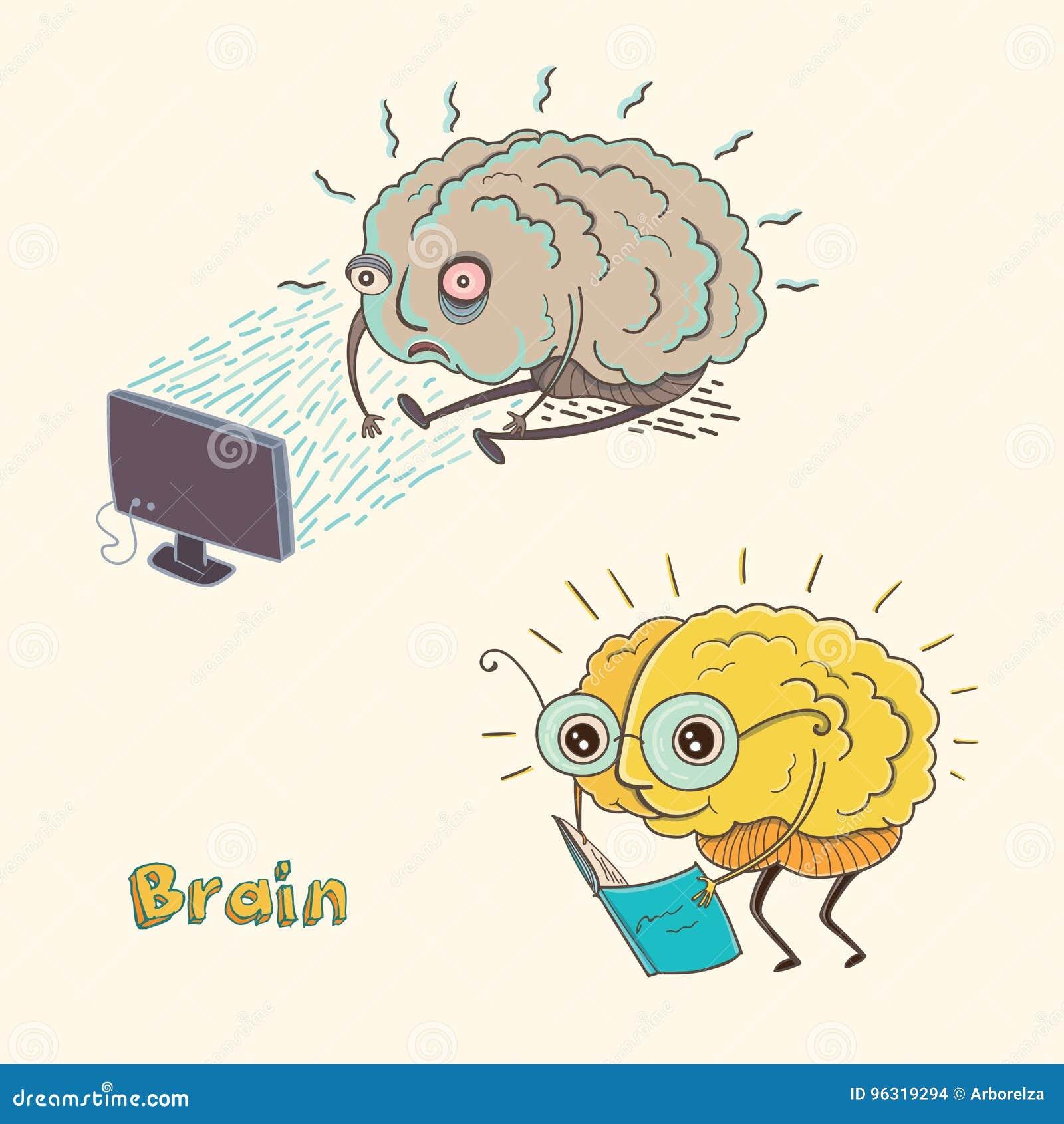 Cérebro humano do personagem de banda desenhada
