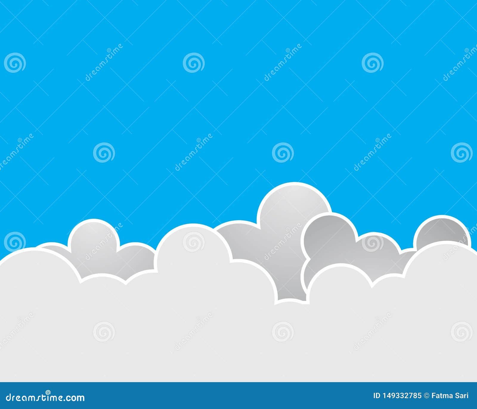 C?u azul com ?cone do vetor da nuvem