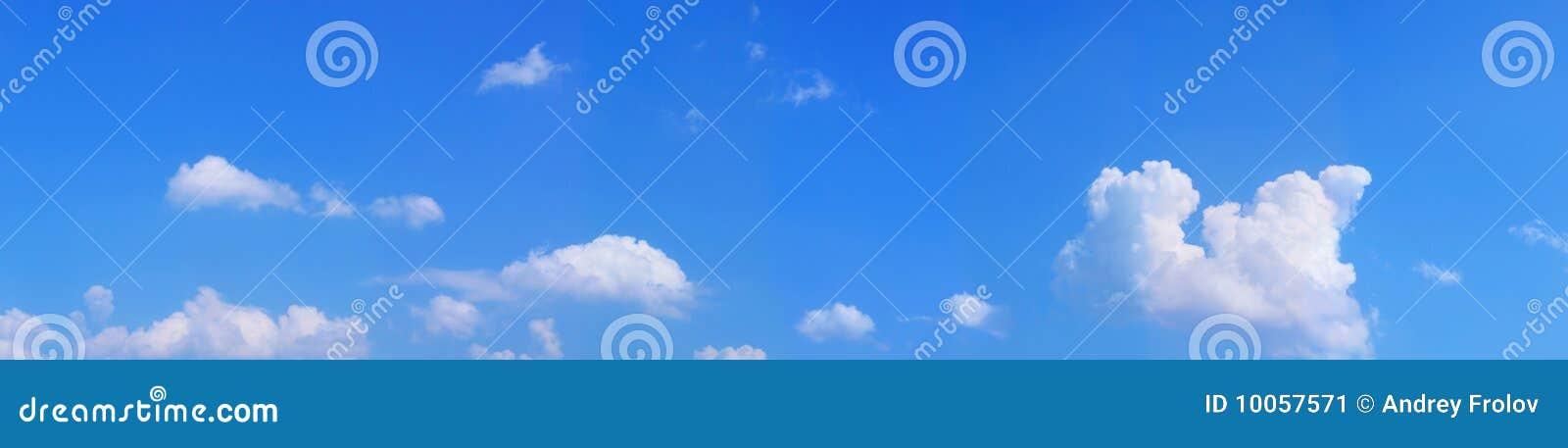 Céu azul da paisagem