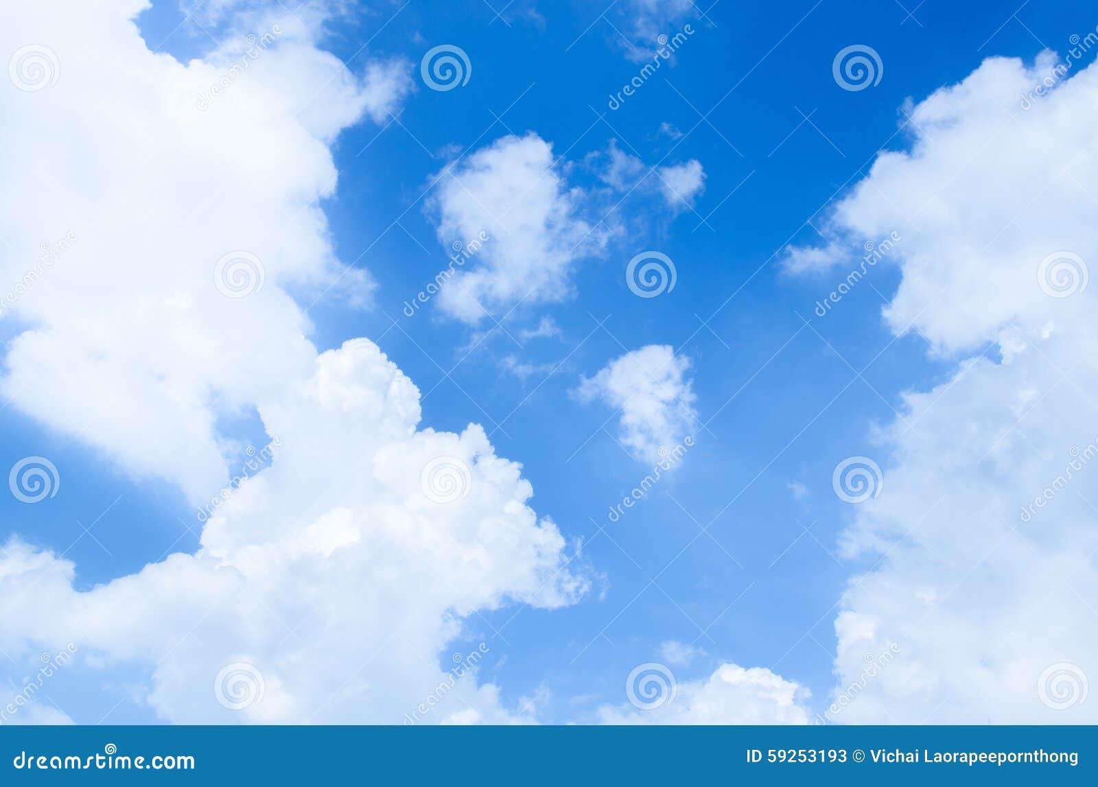 Céu azul e nuvens, usados como o fundo