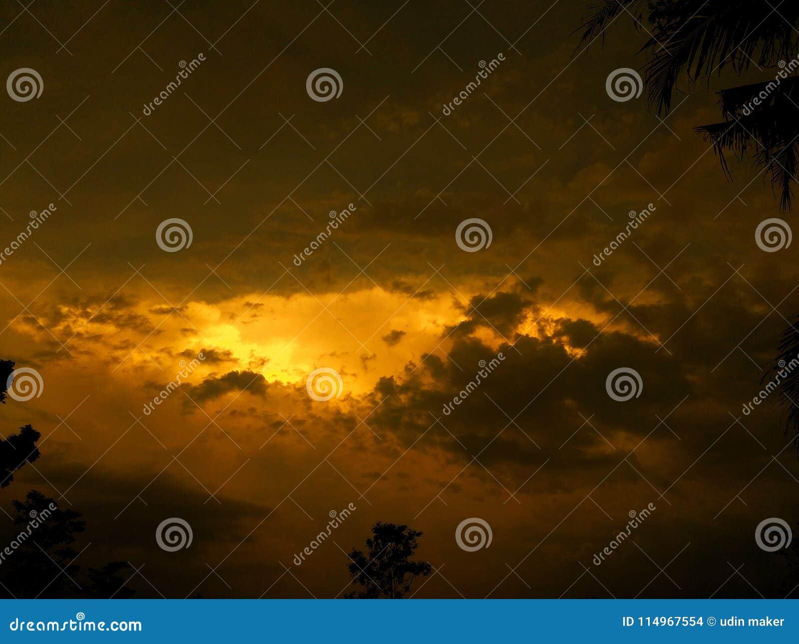 Céu da tarde