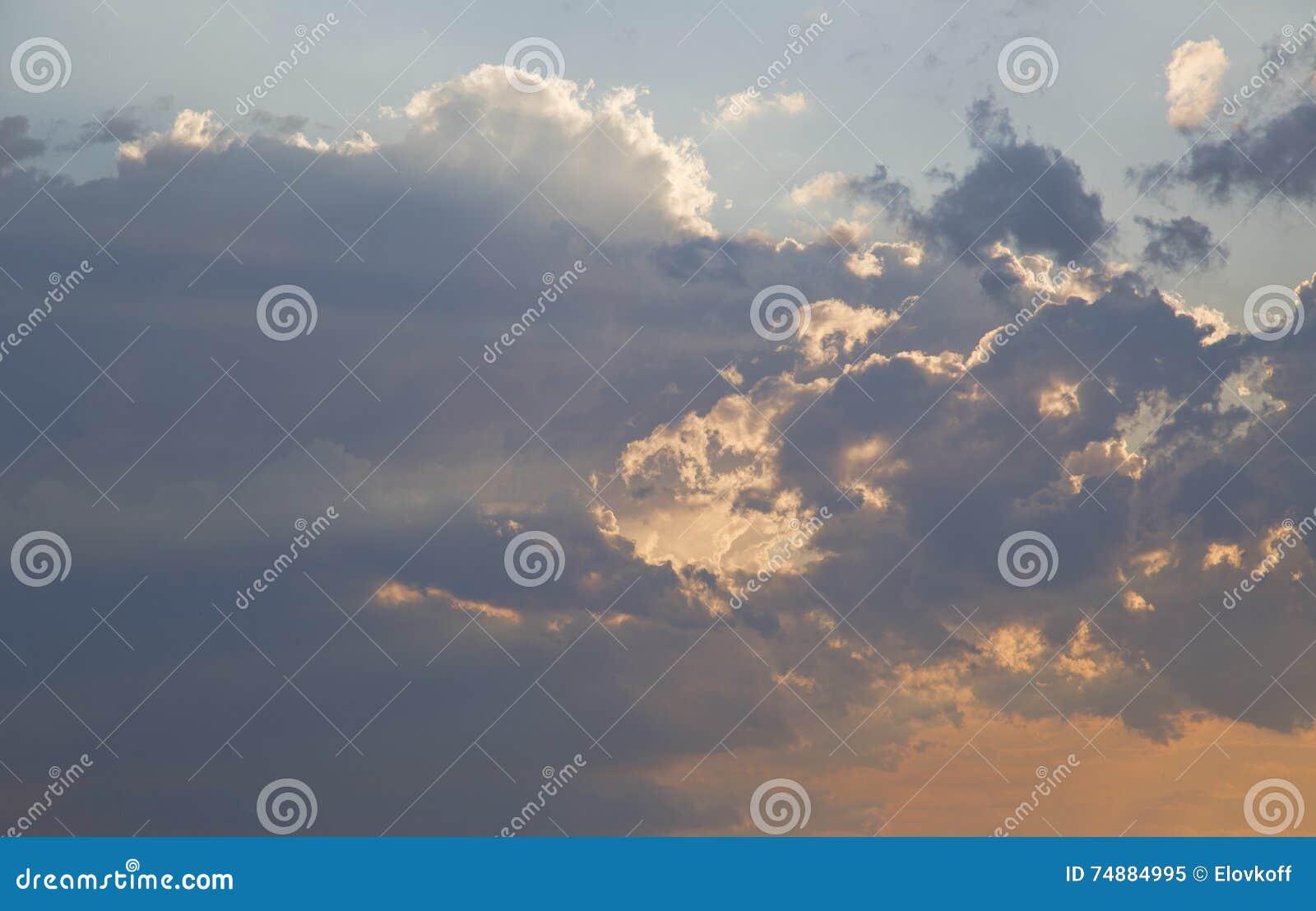 Céu do por do sol sobre Bruce Peninsula
