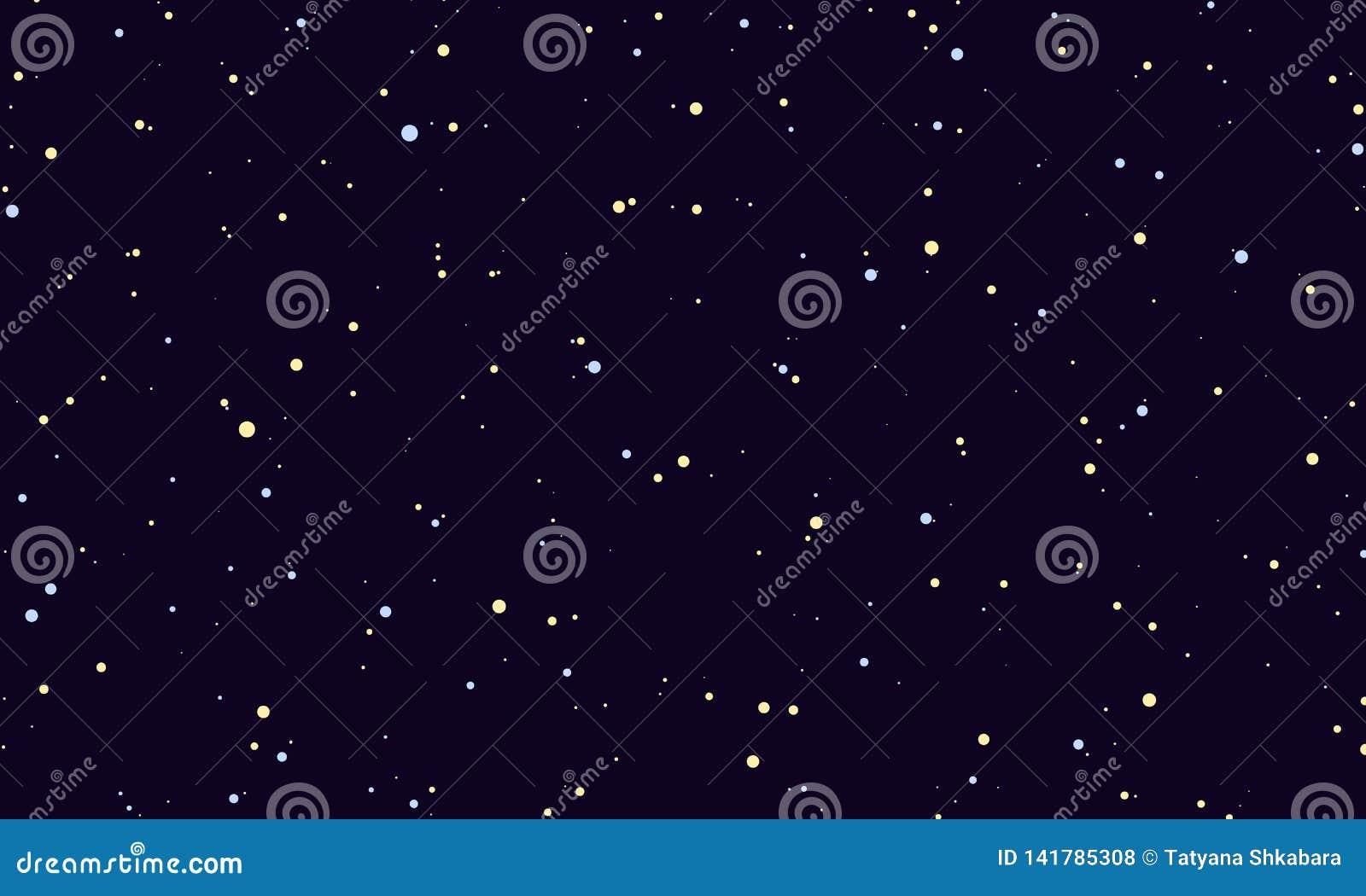 Céu estrelado da noite