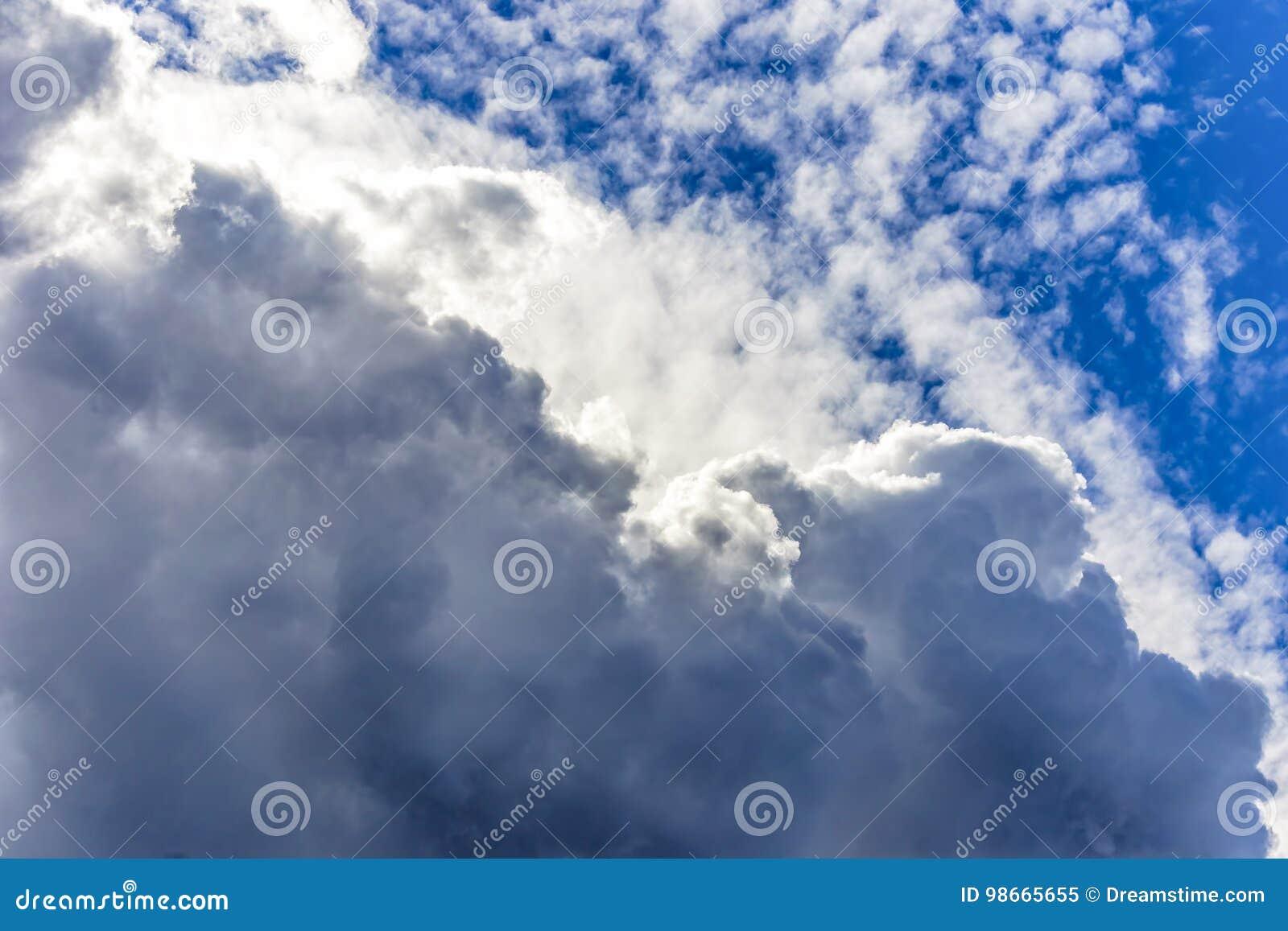 Céu nebuloso que forma texturas e camadas