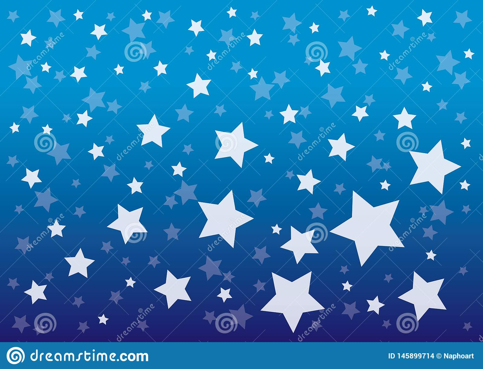 Céu noturno azul com ilustração do vetor do teste padrão