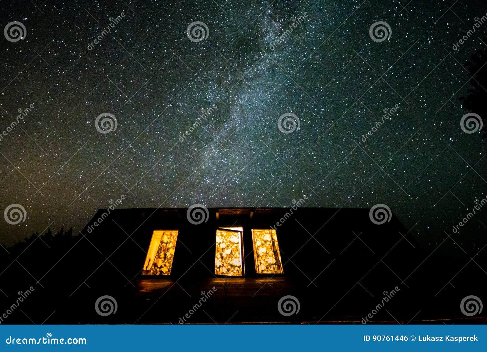 Céu noturno no Polônia