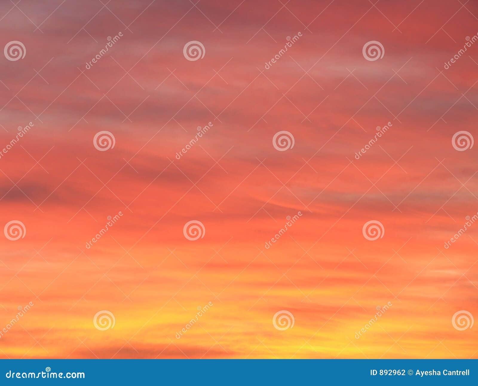 Céu vermelho na noite