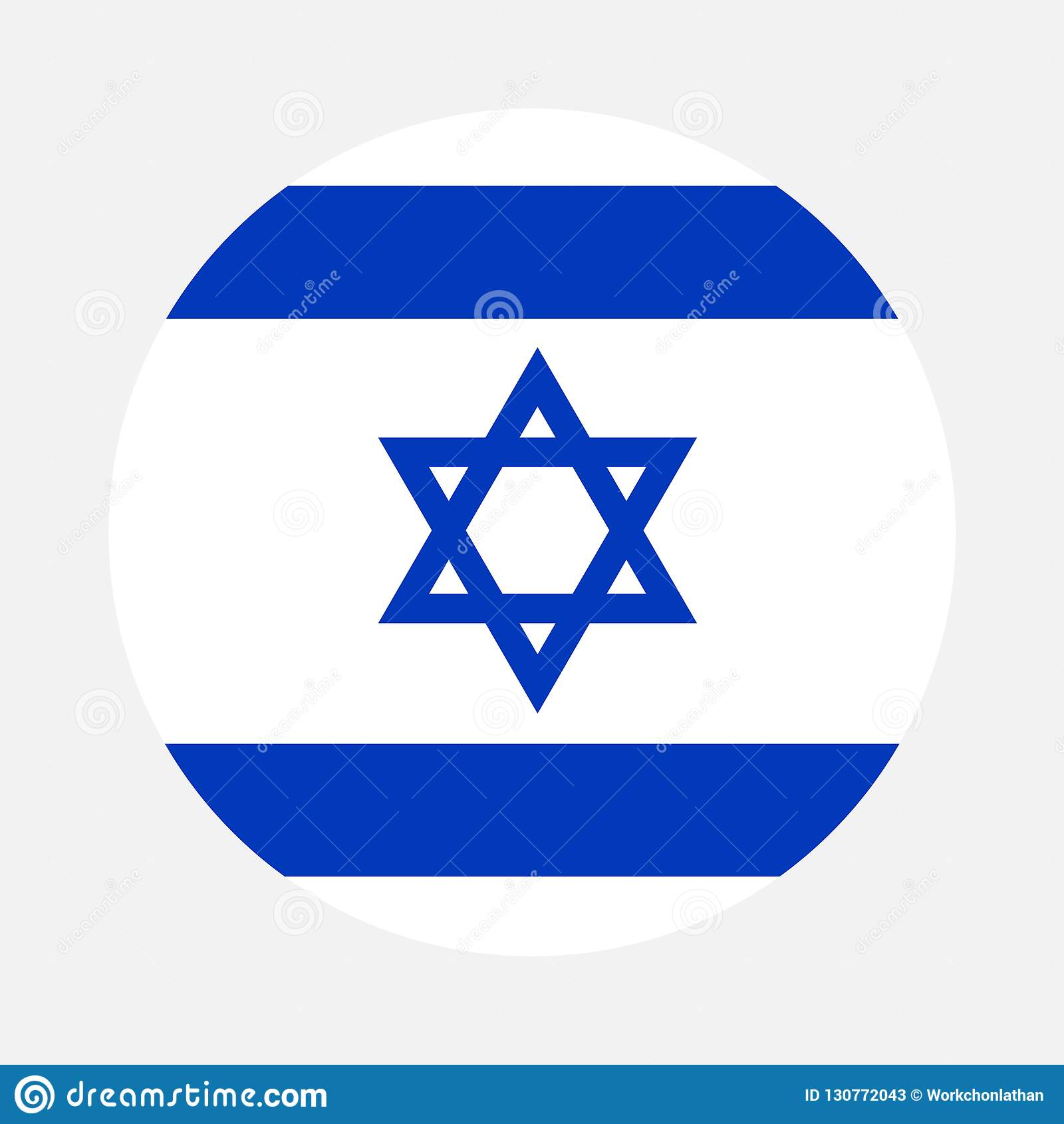 Círculo de la bandera de Israel