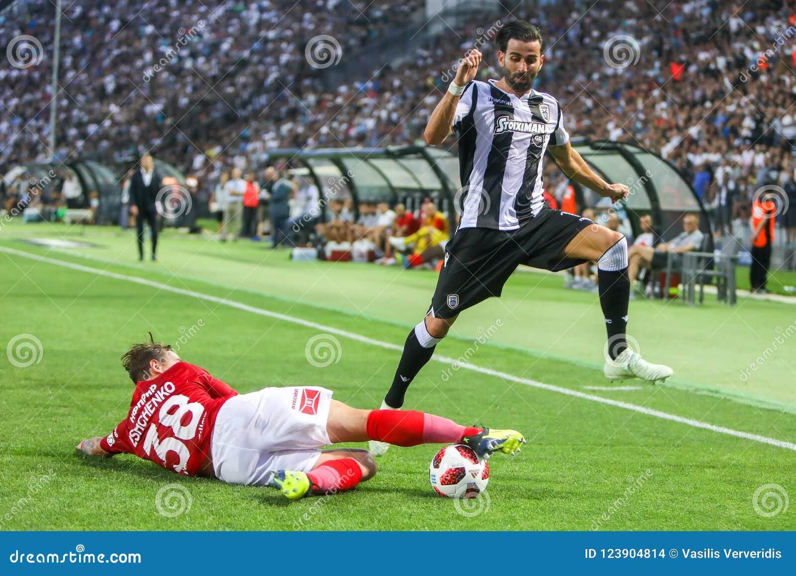 Círculo de qualificação da liga de campeões de UEFA terceiro, entre o PAOK contra