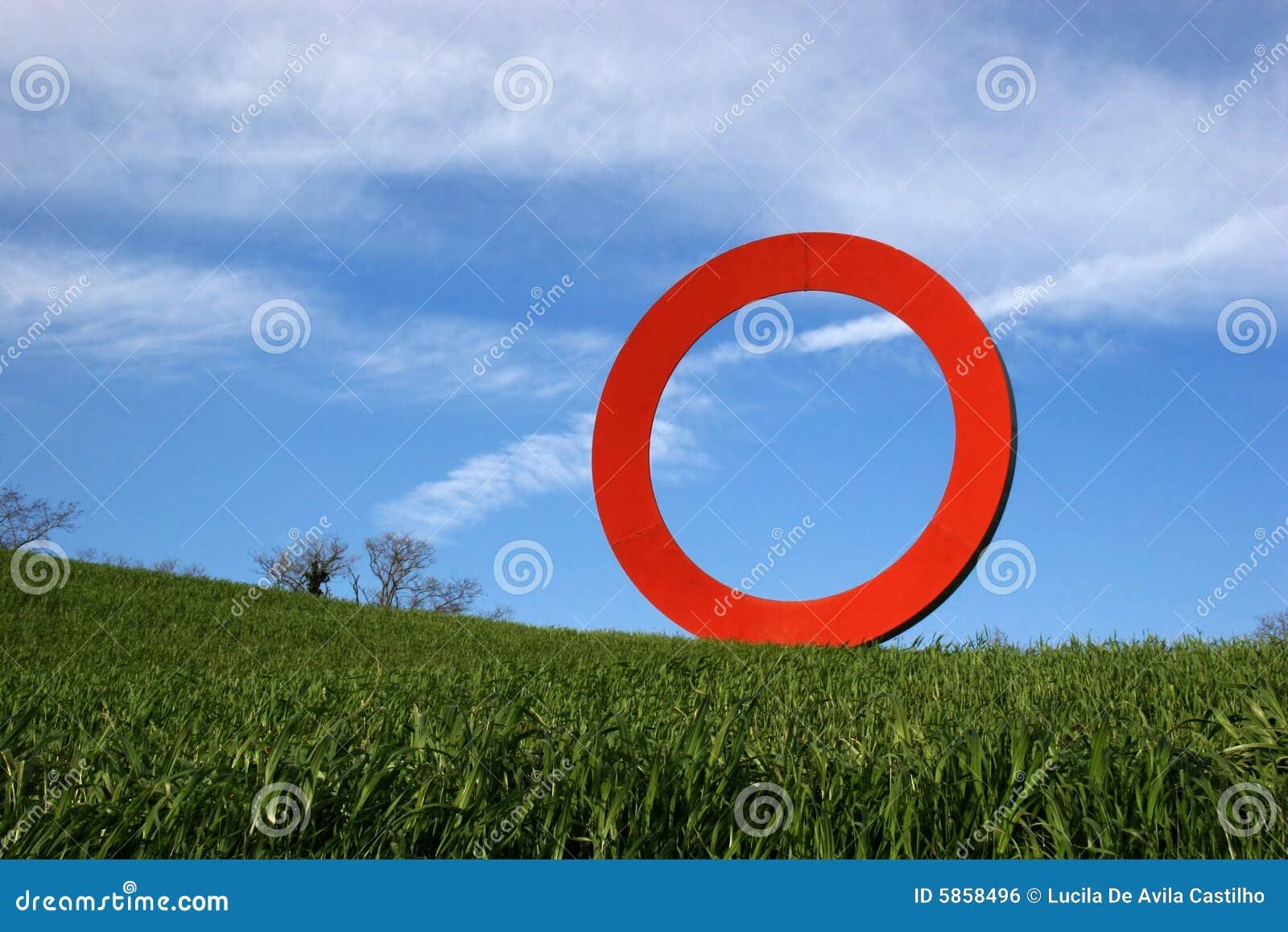 Círculo de rolamento vermelho