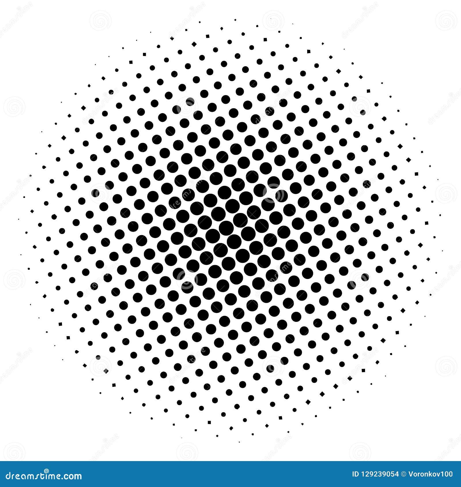 Círculo de semitono del artículo, en un fondo blanco Ilustración del vector para su agua dulce de design
