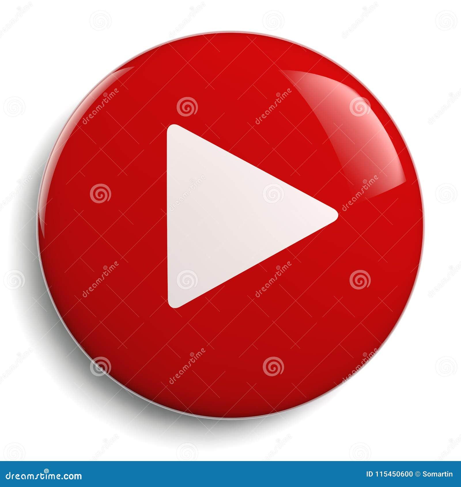 Círculo del rojo del botón del juego