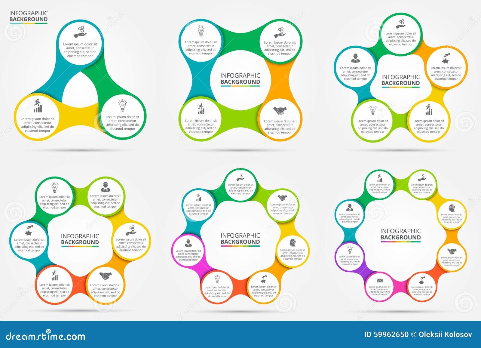 Círculo del vector infographic
