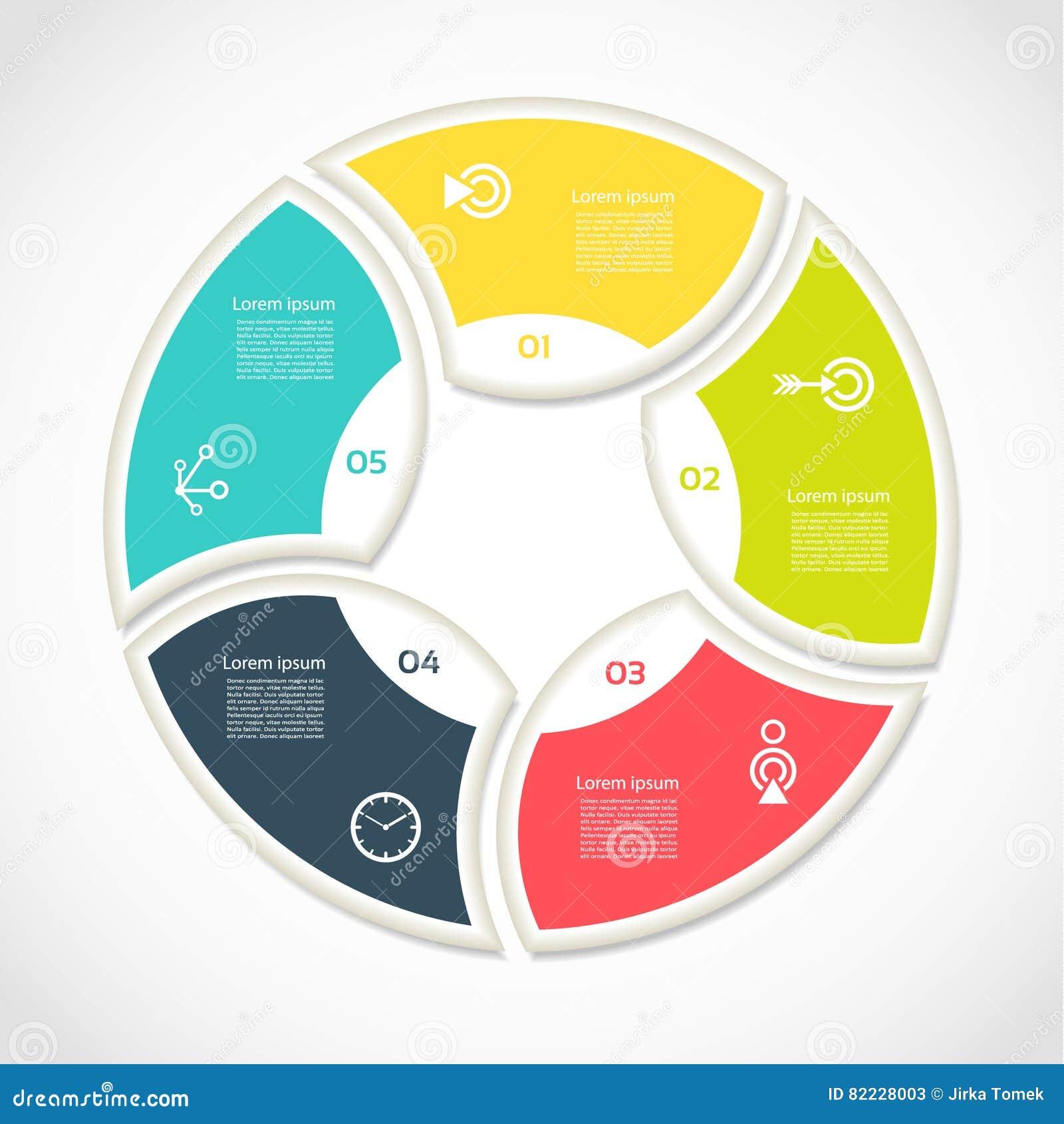 Círculo Del Vector Infographic Plantilla Para El Diagrama Del Ciclo ...
