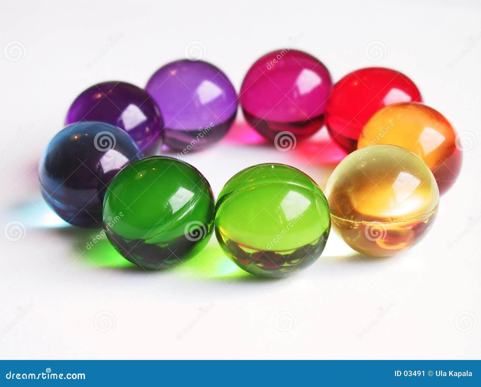 Círculo do arco-íris das esferas do banho