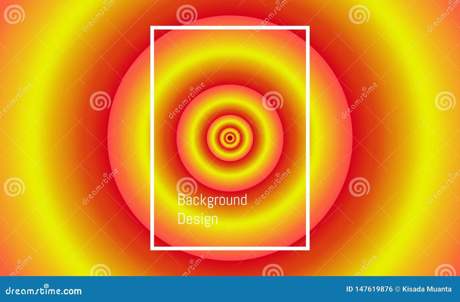 Círculo grande abstrato ao alinhamento pequeno do centro projeto bonito colorido do fundo Ilustra??o EPS10 do vetor