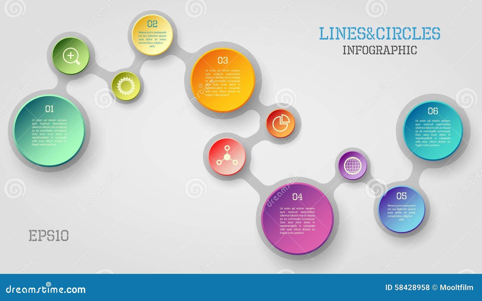Círculo infographic