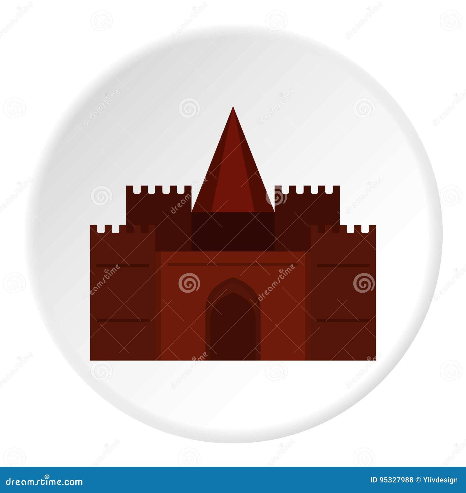 Círculo medieval do ícone do palácio