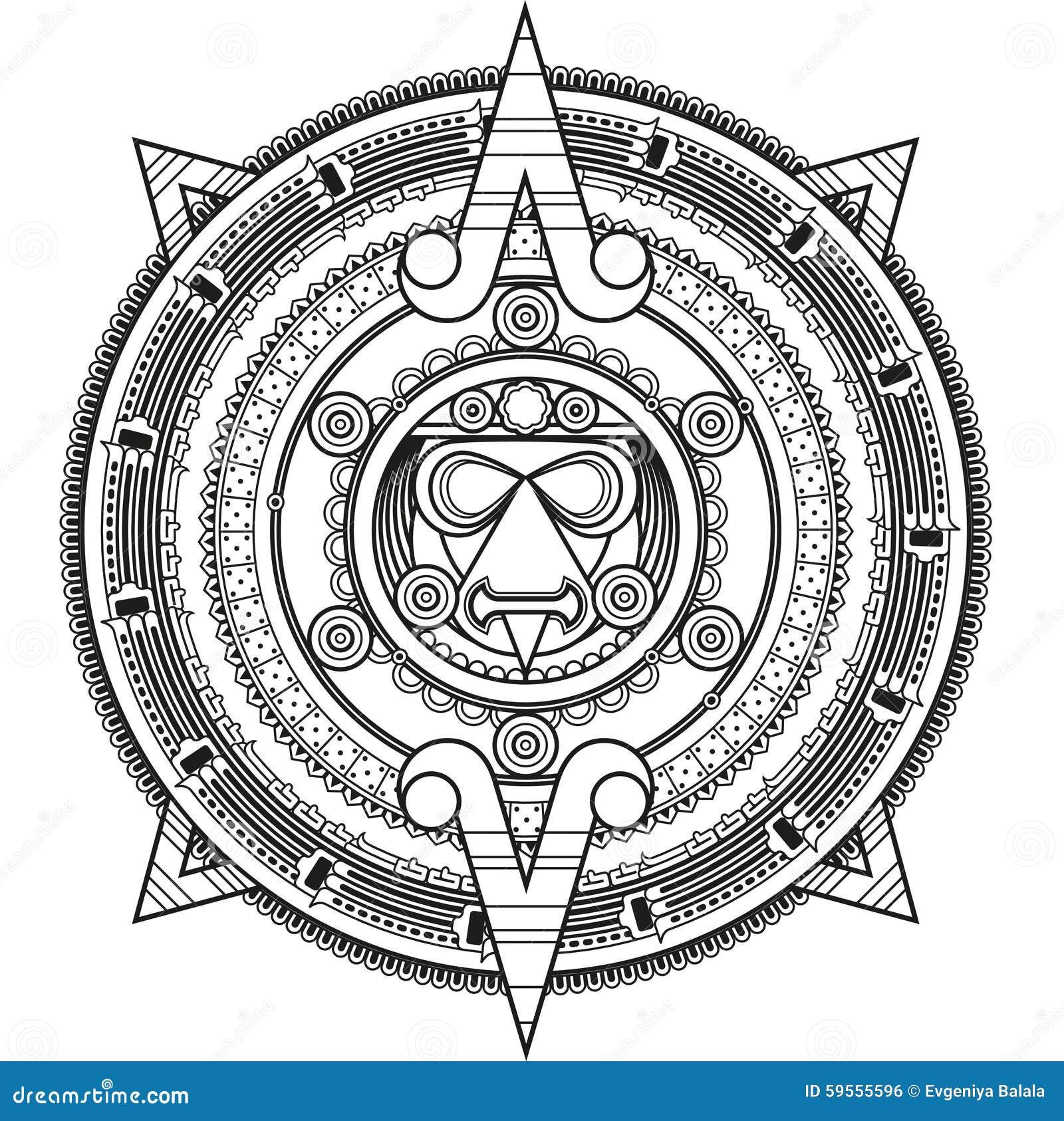 Círculo modelado en el estilo del maya