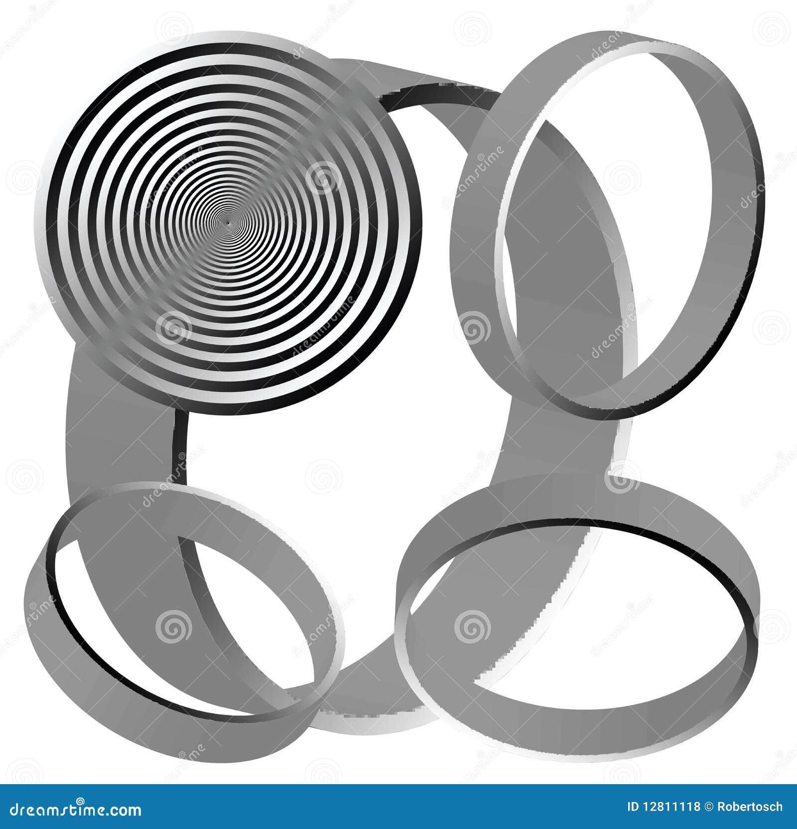 Círculos abstratos isolados no fundo branco