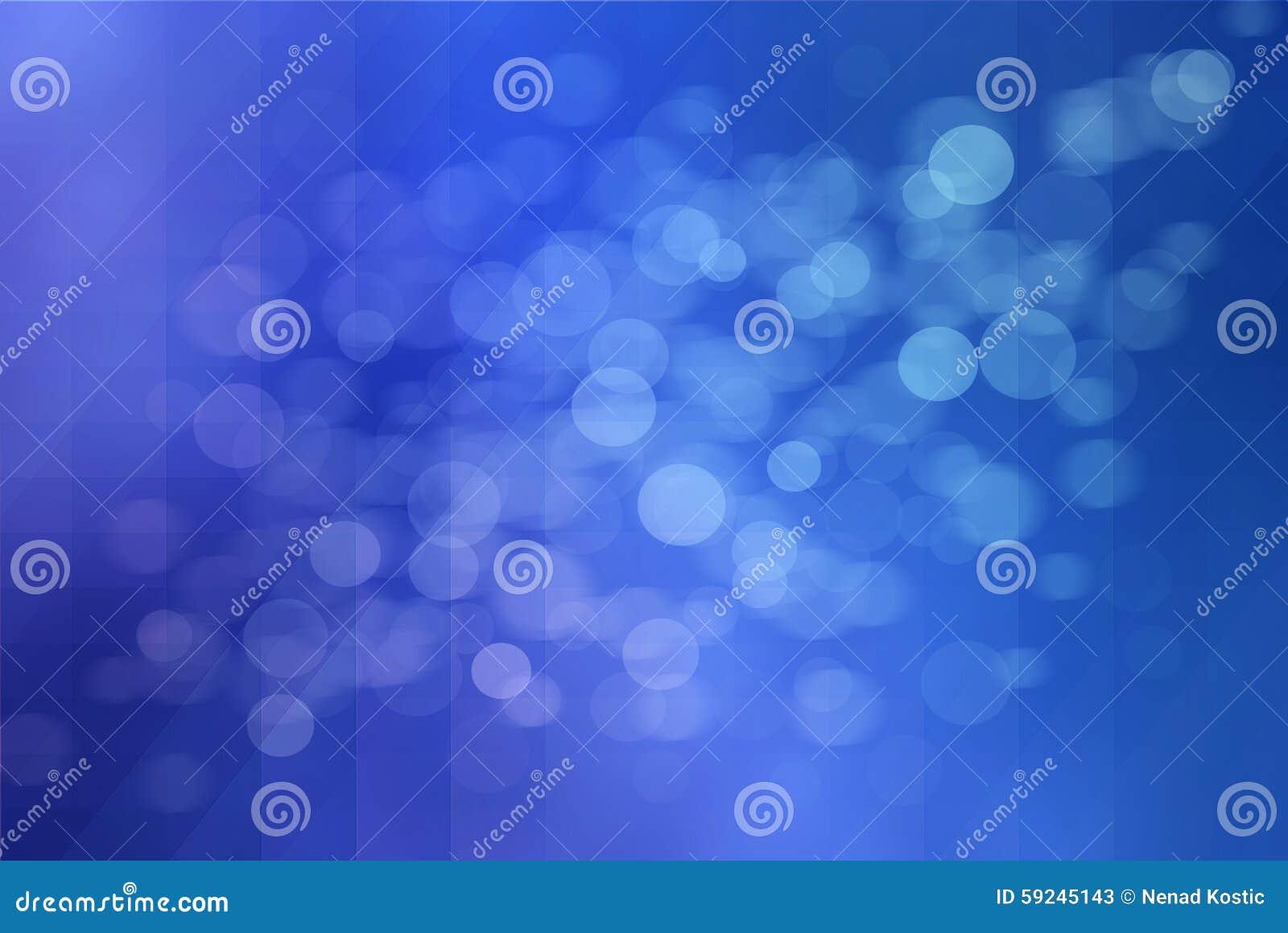 Círculos azules del bokeh del fondo abstracto
