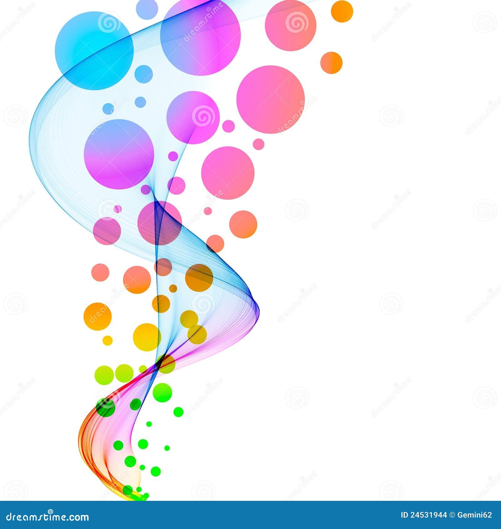 Círculos coloridos abstractos