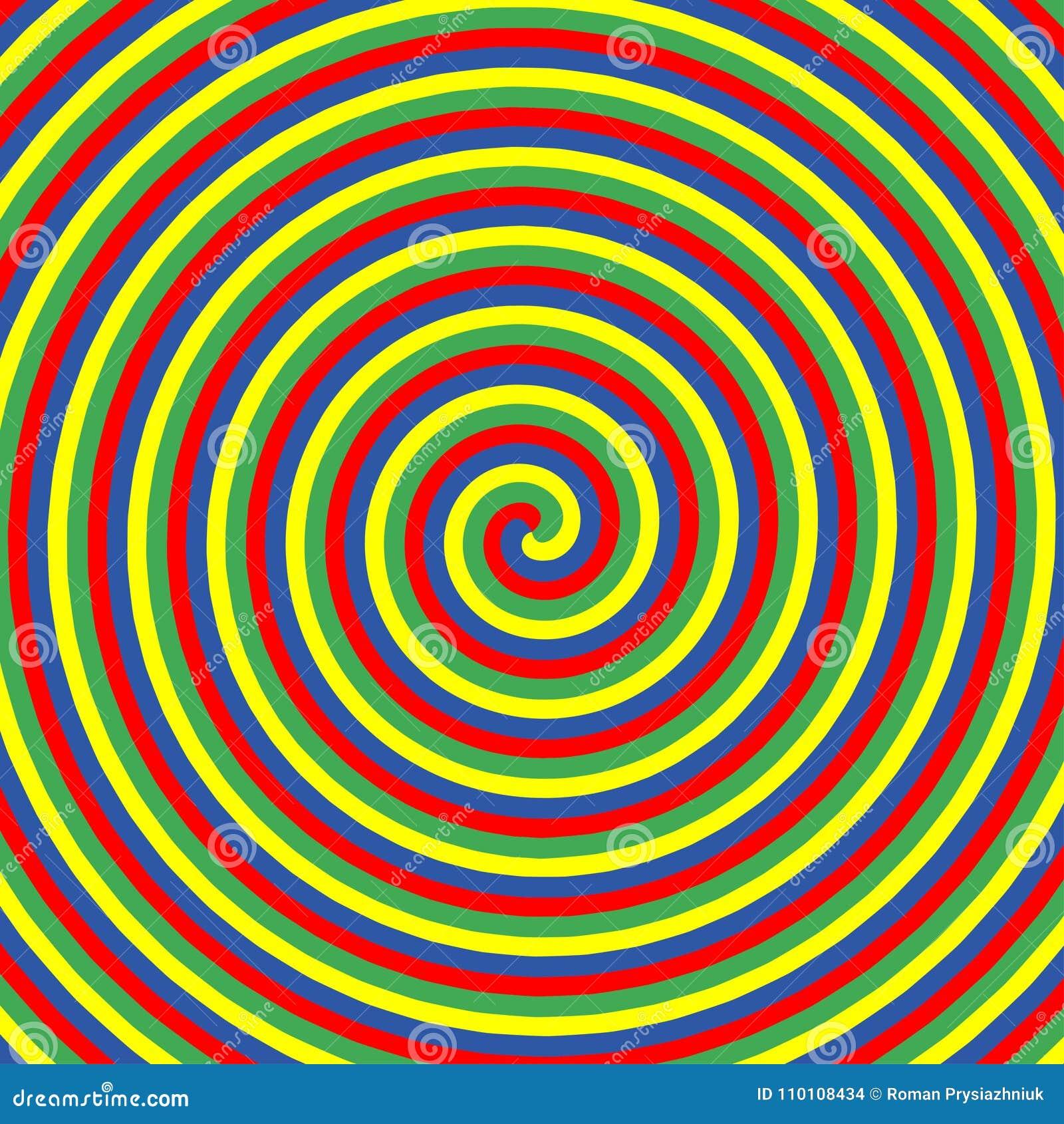 Círculos De Color Hipnóticos Colección De Fondos Espirales