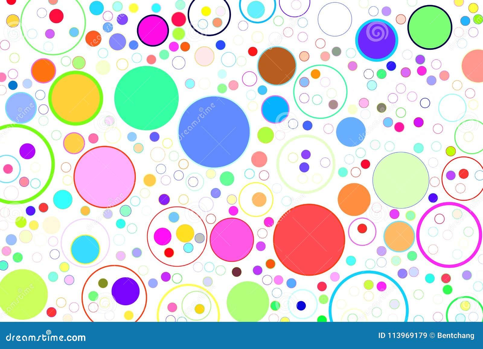 Círculos Del Fondo, Burbujas, Esfera O Modelo Abstracta